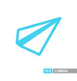 paper plane message symbol flat icon vector image