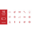 15 center icons vector image vector image