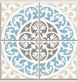 ancient floor ceramic tiles vector image vector image