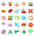 arrow icons set cartoon style vector image vector image