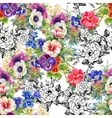 Beautiful Watercolor Summer Garden Blooming vector image vector image
