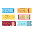 best party gold ticket set vector image vector image