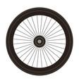 bike wheel isolated icon vector image