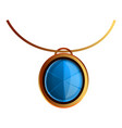 blue gemstone pendant icon cartoon style vector image