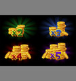 bonus x2 x3 x4 x5 coins vector image