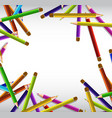 border design with sharp color pencils in many vector image vector image