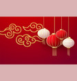 chinese new year design template with and red vector image vector image