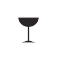 Cocktail glass icon silhouette vector image vector image