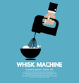 Cooking With Whisk Machine vector image