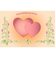 Decorative colorful floral hearts Eps10 vector image