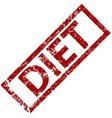 Diet rubber stamp vector image vector image