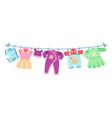 flat children clothes colorful dresses little vector image