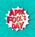 fool day april holiday greeting card banner vector image