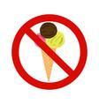 forbidding signs no ice-cream vector image vector image