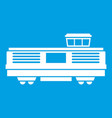 freight train icon white vector image vector image