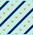 Gold hearts line seamless pattern
