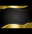 gold metal banner on black background vector image vector image