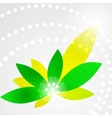 Green shiny flower vector image vector image