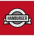 Hamburger vintage stamp vector image vector image