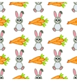 Happy Easter Seamless Pattern Flat Icons Spring vector image