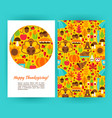 happy thanksgiving flyer template vector image vector image