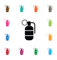 isolated ammunition icon grenade element vector image vector image