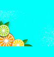 lemon lime orange in paper cut style origami vector image