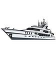 luxury motor yacht vector image vector image