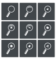 Magnifier icon set vector image vector image