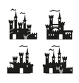 Medieval castle icon set vector image
