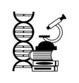 microscope dna laboratory science vector image vector image