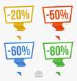 Paper Pointer set vector image vector image
