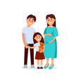portrait of young happy family father mother and vector image vector image