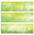 rabbit banners vector image vector image
