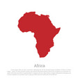 red silhouette of continent africa vector image