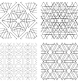 Seamless black and white ornament Modern stylish vector image vector image