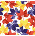 seamless floral pattern background with autumn vector image