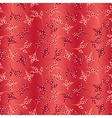 Seamless hot floral pattern vector image
