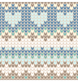 seamless pattern with gentle winter knitting trace vector image