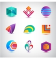 set of abstract logos icons minimal vector image vector image