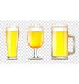 set of glass of beer vector image vector image