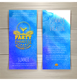 Set of watercolor summer banners with cocktail vector image