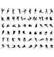 set silhouettes winter sports vector image