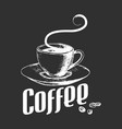 sketch a cup coffee in vintage style vector image