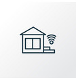 Smart home icon line symbol premium quality