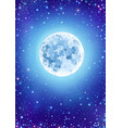 starry clear sky with moon vector image