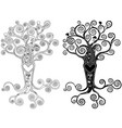 stylized tree with heart vector image vector image