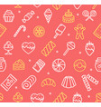 sweets and bakery pattern background vector image vector image