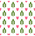 symmetrical seamless pattern with hearts and vector image vector image
