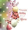 Template for birthday card with balloons vector image vector image